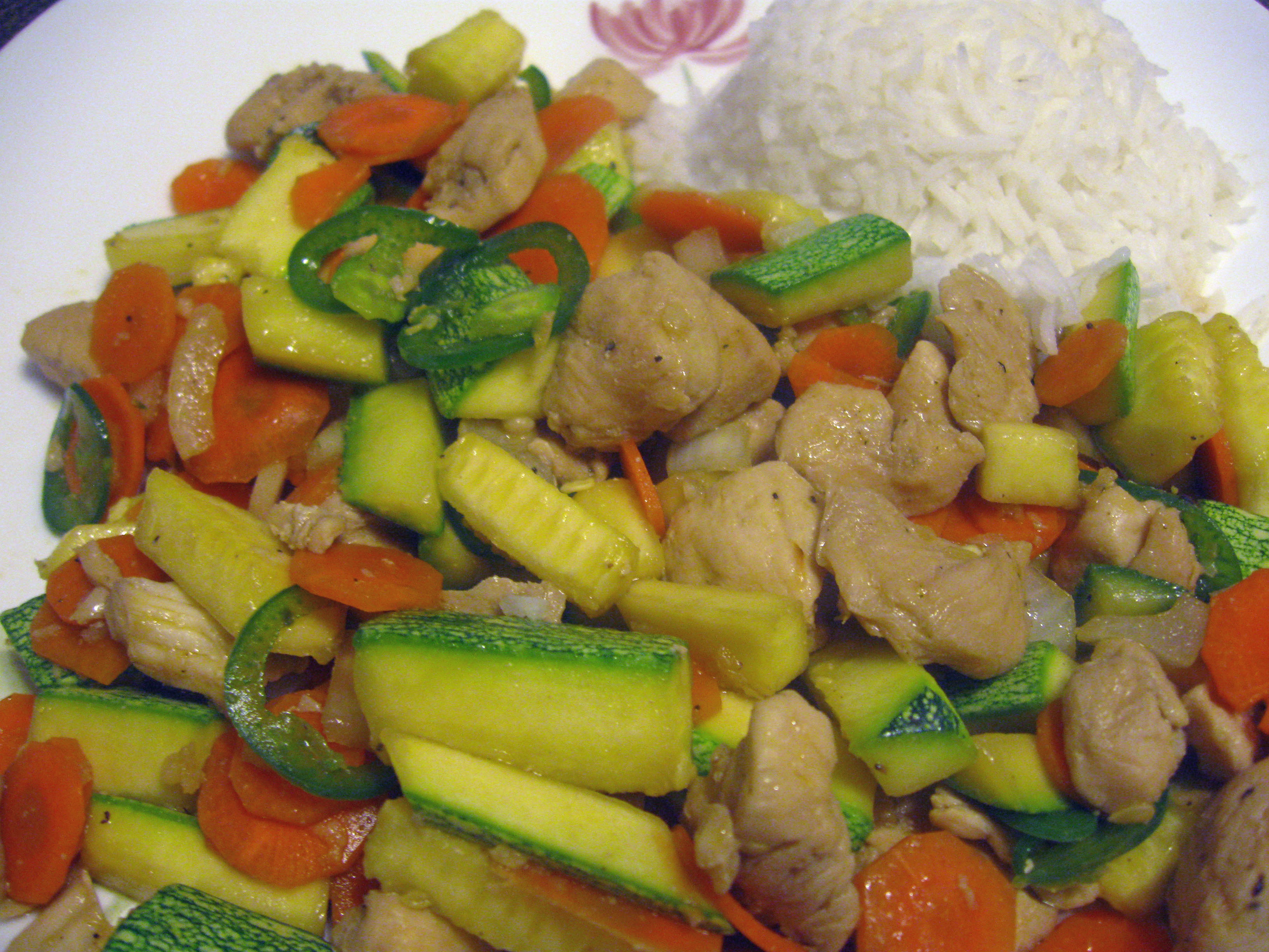 Chicken Vegetable Stir Fry With Oyster Sauce  Albert -8586