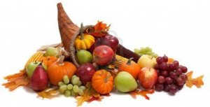 5723554-a-fall-arrangement-in-a-cornucopia-on-a-white-background